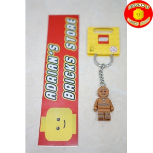 LEGO 851394 - Collectible Minifigures Gingerbread Man Key Chain Image 1